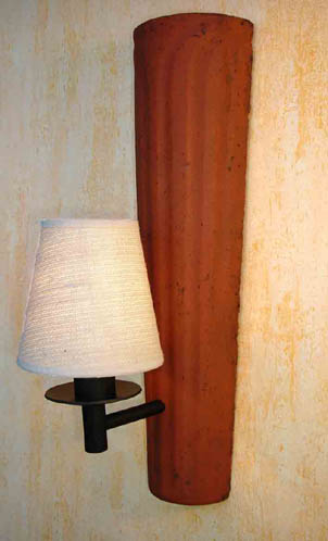 dachziegel wand leuchte m nch mit schirm mediterran wandlampe ebay. Black Bedroom Furniture Sets. Home Design Ideas