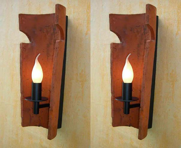 paar wohnzimmerlampe dachziegel nonne mediterran rustikal. Black Bedroom Furniture Sets. Home Design Ideas