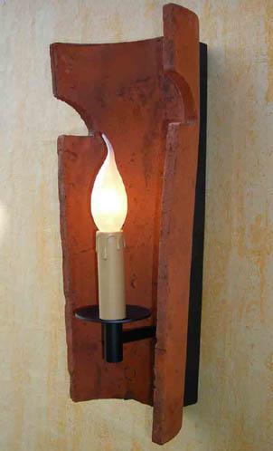 Dachziegel wandleuchte wandlampe landhausstil kerze ebay - Dachziegel wandleuchte ...
