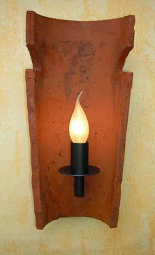 Dachziegel wand leuchte nonne mediterran wand lampe antik - Dachziegel wandleuchte ...