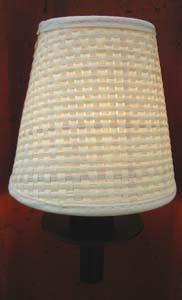 aufsteck lampenschirm wandlampe neu creme farbend e14 weidengeflecht ebay. Black Bedroom Furniture Sets. Home Design Ideas