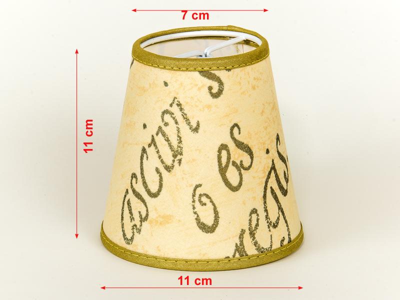 lampenschirm zum aufstecken beige gold mit aufdruck schrift cappuccino farbend ebay. Black Bedroom Furniture Sets. Home Design Ideas