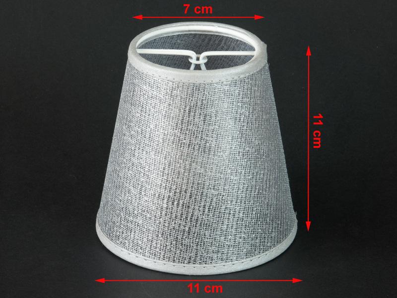 silberfarbender aufsteck lampenschirm e14 kronleuchter wandlampe tischleuchte. Black Bedroom Furniture Sets. Home Design Ideas