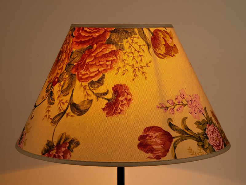 lampenschirm rund gross xl 35cm bunte blumen herbstblumen. Black Bedroom Furniture Sets. Home Design Ideas