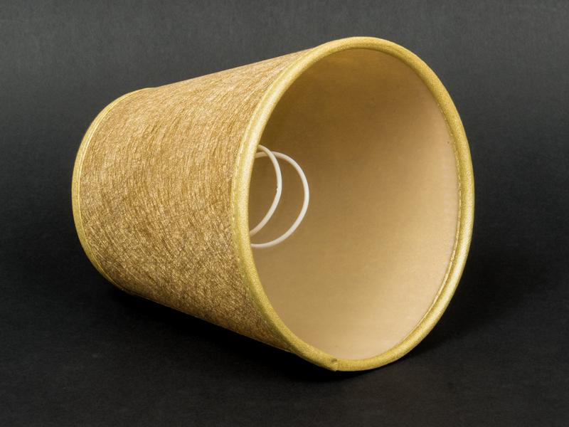 aufsteck lampenschirm gold gewebe e14 klemmschirm glitter. Black Bedroom Furniture Sets. Home Design Ideas