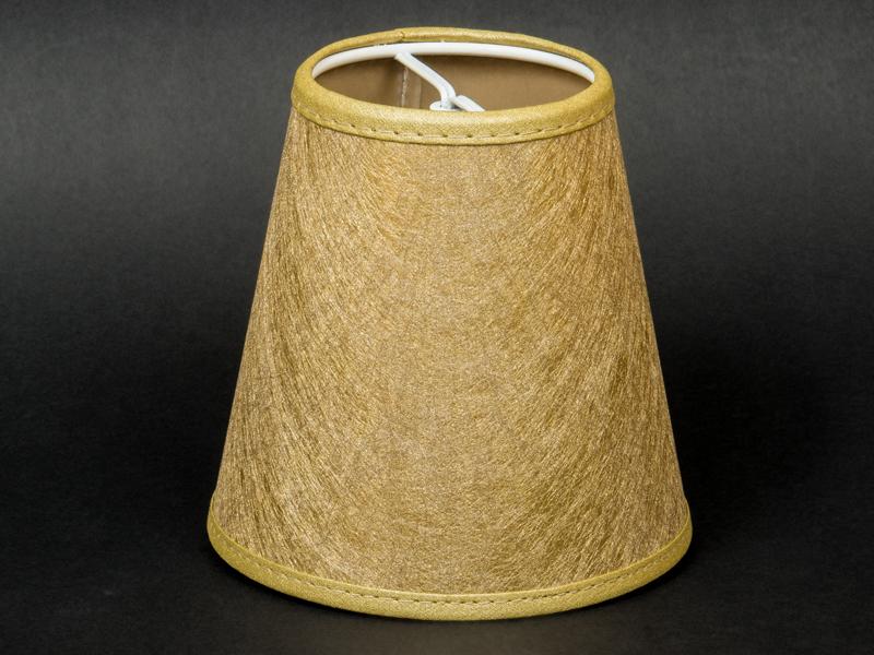 aufsteck lampenschirm gold gewebe e14 klemmschirm glitter effekt ebay. Black Bedroom Furniture Sets. Home Design Ideas