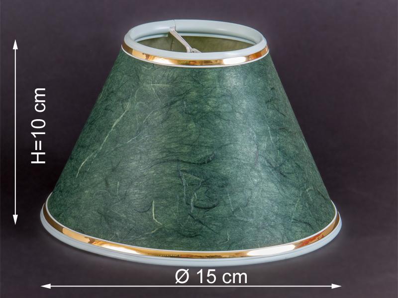 eleganter lampenschirm gr n marmoriert mit goldrand klemmschirm b ware ebay. Black Bedroom Furniture Sets. Home Design Ideas