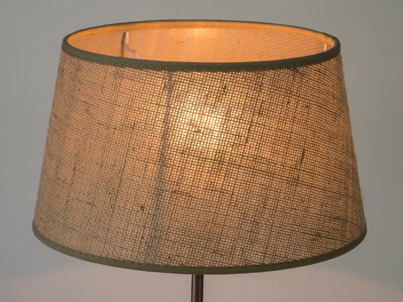lampenschirm rustikal e 27 aus grober jute f r tisch und stehlampen ebay. Black Bedroom Furniture Sets. Home Design Ideas