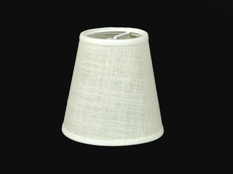 lampenschirm zum aufstecken aus leinen kronleuchter tischlampe klemmschirm e14 ebay. Black Bedroom Furniture Sets. Home Design Ideas