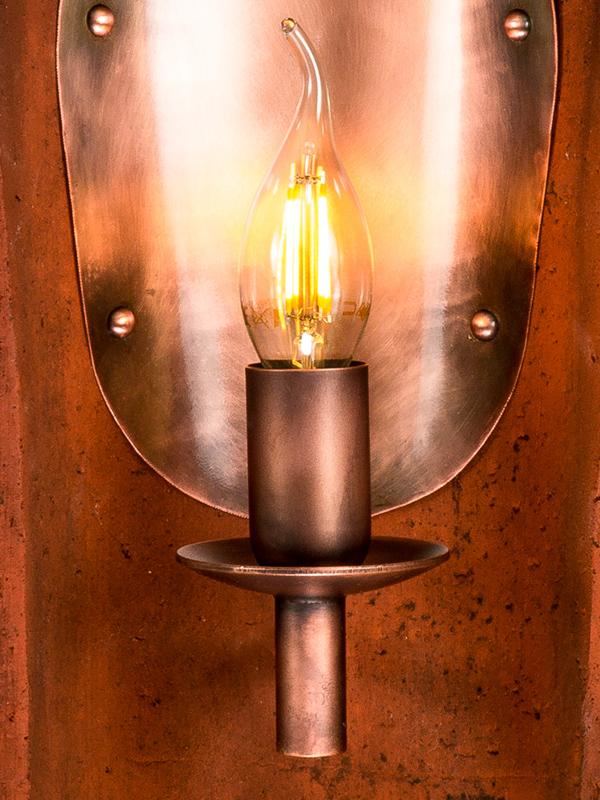 wandlampe antik kupfer vintage historischer dachziegel wandleuchte ebay. Black Bedroom Furniture Sets. Home Design Ideas