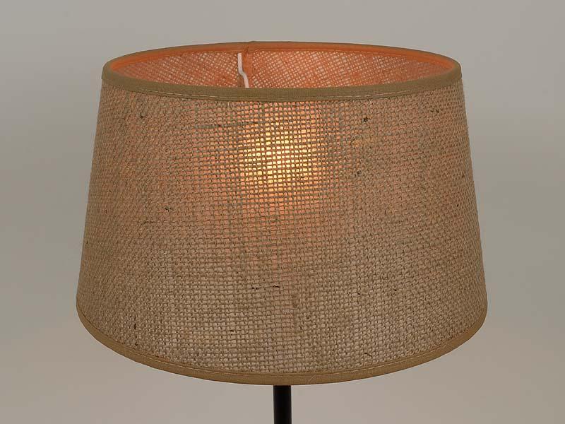 rustikaler lampenschirm e 27 aus grober jute f r tisch und stehlampe ebay. Black Bedroom Furniture Sets. Home Design Ideas