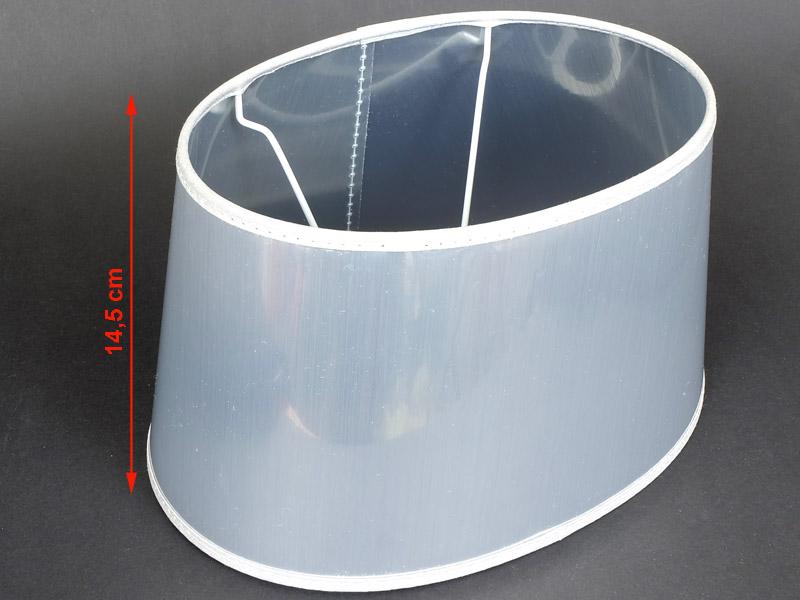 extravaganter silberner lampenschirm oval f r tischlampen e27 modern ebay. Black Bedroom Furniture Sets. Home Design Ideas