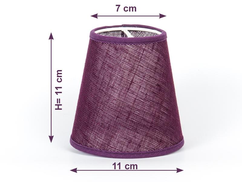 aufsteck lampenschirm violett farbenfroh modern e 14 klemmschirm lila ebay. Black Bedroom Furniture Sets. Home Design Ideas