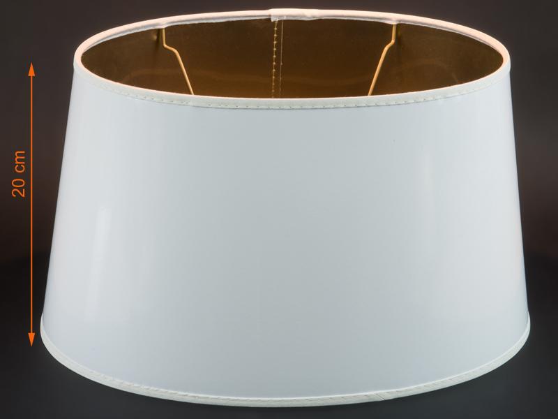 grosser weiss goldener lack lampenschirm f r tischlampen e27 oval. Black Bedroom Furniture Sets. Home Design Ideas